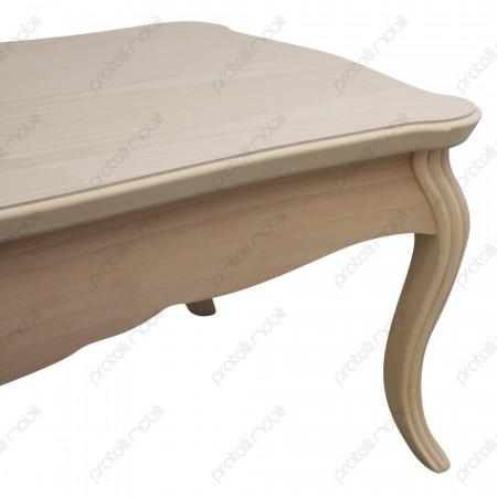 Tavolino basso bombato grezzo