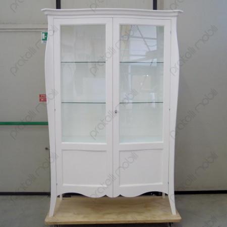 Vetrina Bombata Bianco Opaco