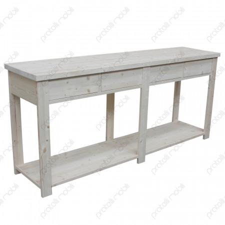 Tavolo buffet legno grezzo
