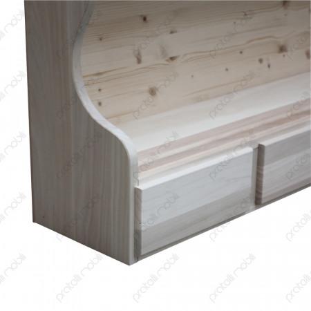 Piattaia in legno da dipingere