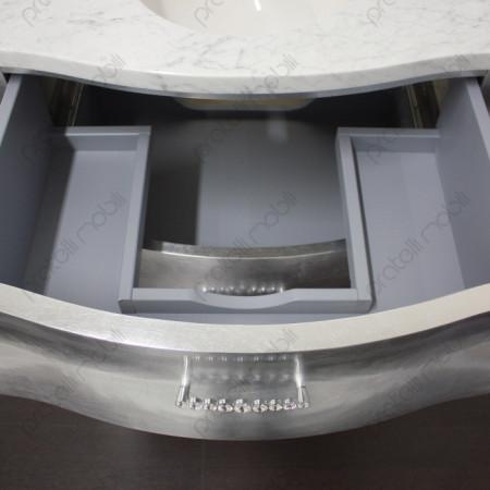 Mobile Bagno Bombato Piccolo L 95 Cm