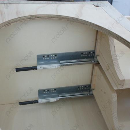 Mobile Bagno Bombato con Guide Ammortizzate per i Cassetti
