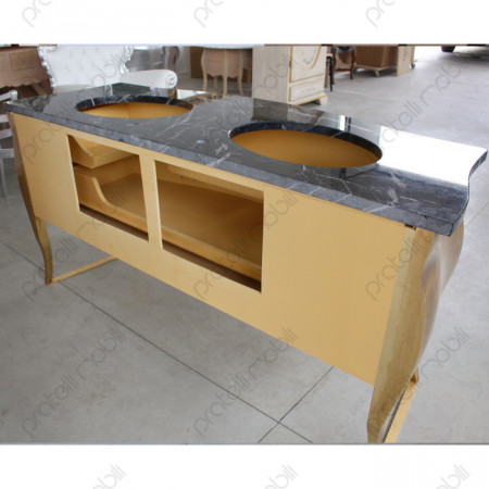 Mobile Bagno Bombato con 2 Lavabi