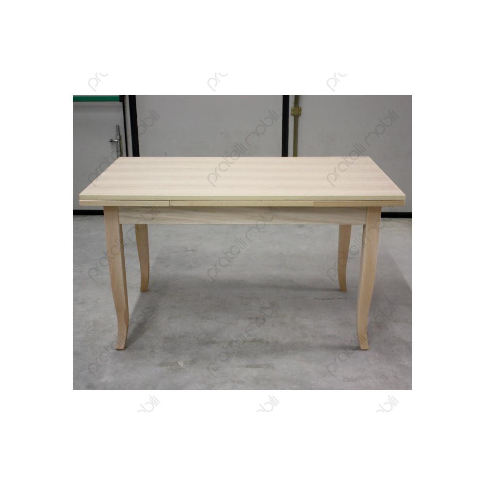 Verniciare Un Tavolo Di Legno tavolo grezzo allungabile per cucina e soggiorno, varie misure